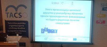 Uloga OCD u unapređenju lokalnih praksi transparentnog finansiranja iz budžeta jedinica lokalne samouprave